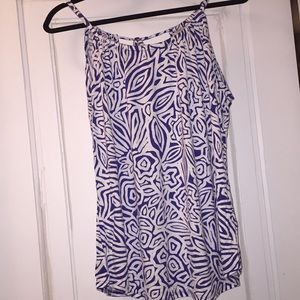 Blue and white banana republic tank sz xl